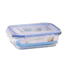 1000мл обед Коробка еды контейнер оптом стеклянная чаша набор с крышкой