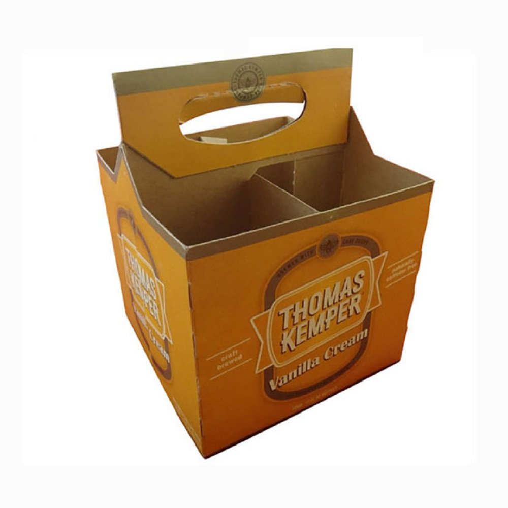 Cardboard-4-pack-beer-bottle-box-carriers-jxpacking