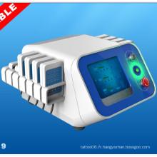 Dispositif de traitement portatif à usage professionnel Appareil de lipolyse à laser Lipo à double longueur d'onde Br319