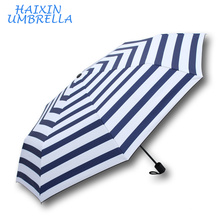 New Promotion Items from China 8 Ribs Wedding Souvenir Marine Look Summer Compact Travel Umbrella Windproof Umbrellas
