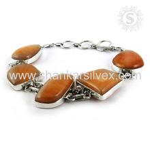 Brillant aventurine gemme bijoux en argent 925 argent sterling bracelet bijoux en argent faits main