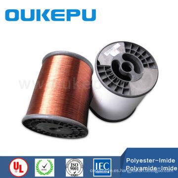 barniz Poliesterimida recubierto de esmalte cobre alambre para transformador