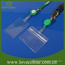 Promotion Custom Clear Plastic ID Abzeichen Name Visitenkartenhalter