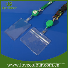 Promotion Custom Clear Plastic ID Badge Name Business Card Holders