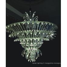 Lampe pendentif en cristal transparent de haute qualité pour projet hôtelier