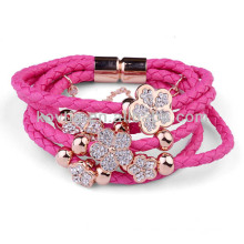 NH00777 Wholesale newest cowhide magnetic clasp bracelet