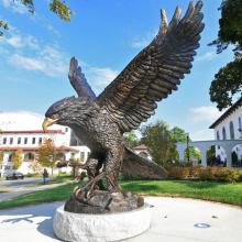 grandes sculptures en plein air métal artisanat bronze grand aigle sculpture