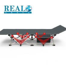 Modern Outdoor Wholesale Portable Single Reinforce Support Metal Army Military Guest With Storage Pocket Folding Bed