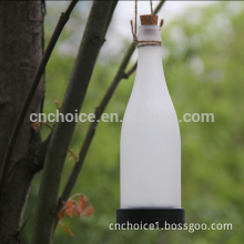 2015 new product Portale Solar panel glass Hanging christmas led bottle light