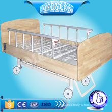 electric nursing wooden bed with 3 functions for patient