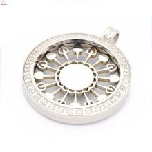 Beste Preis austauschbare Münze Anhänger Halskette, Silber Münze Anhänger Medaillon Halskette
