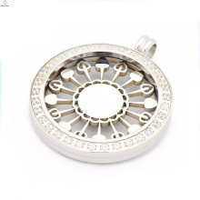 Best price interchangeable coin pendant necklace,silver coin pendant locket necklace