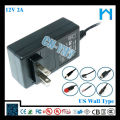 power supply ul plug 12V2a 24w AC DC ADAPTER with CE FCC UL/CSA SAA GS