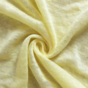Natural fiber knitting linen jersey fabric