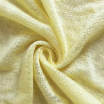 Natural fiber knitting linen jersey fabric