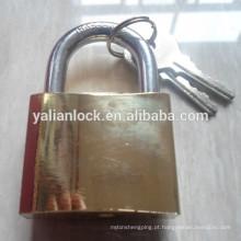Dourado revestido fábrica atacado cadeado