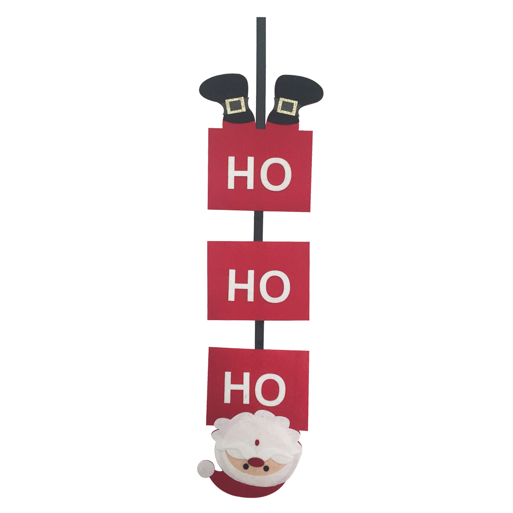 Christmas Santa Claus Wall Sign Ornaments