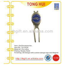 High quality imitation enamel golf divot tool and hat clip