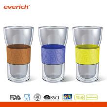 Café promocional resistente ao calor, melhor copo de água de vidro, atacado