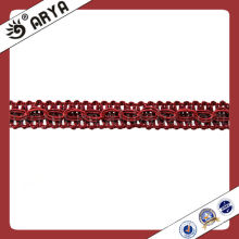 Polyester Chainette Curtain Decorative Trim Ribbon Curtain Fringe Lace