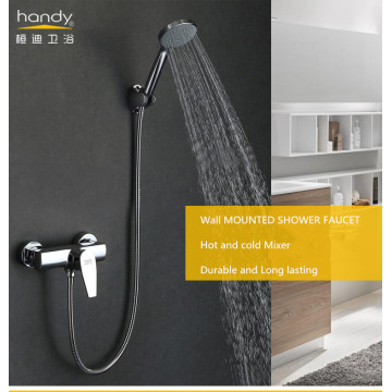 Wall Mounted Single Handle Brass Shower Mixer
