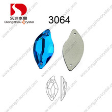 China atacado Flat Back Costurar na pedra de cristal facetado para o acessório do vestuário