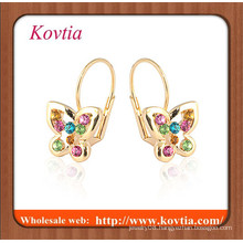 NEWEST fashion rose gold plated butterfly earring small girls released picture