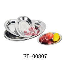 Edelstahl tief Oval Servierplatte (FT-00807)