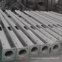 6m 8m 10m 12m hot dip galvanized octagonal decorative street light steel pole with quality assurance