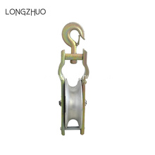 Galvanized Steel Hook Nylon Cable Guide Pulley
