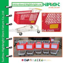 120 литров супермаркет пластиковая тележка для покупок