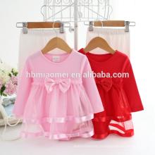 2 шт набор Baby девочки длинный рукав комбинезон кружевной бант для взрослых ребенка ползунки для младенцев