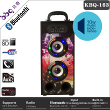 Built-in 1200mAh rechargeable battery mp3 player with speaker