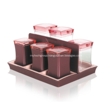 Spice Jars with Lids Condiment Container Kitchen Set