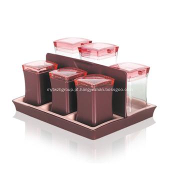Frascos de especiarias com tampa Conjunto de cozinha de recipiente de condimento