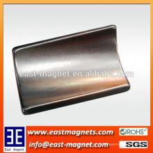 Íman sinterizado de neodímio para gerador magnético de arco / íman de arco para gerador magnético permanente