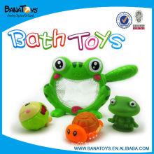 Lovely caoutchouc bain de bébé jouet animaux grenouille