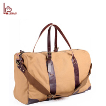 Vintage Genuine Leather Gym Duffle Bag Men Travel Duffel Bag