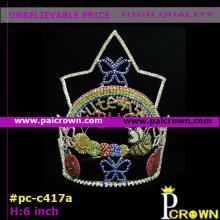 cute colors rainbow batterfly bug Easter Tiara Crown for kids