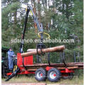 log trailer with crane ZM3004 sale for German