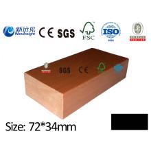 73 * 35mm WPC Válvula compuesta plástica de madera de la quilla de la ISO WPC del CE del CE del CE del SGS CEF para la cubierta / revestimiento / suelo Lhma120