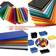 Papelão ondulado / folha oca de plástico pp branco personalizado de fábrica +84966832808