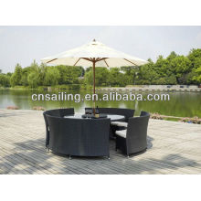 Popular Patio Waterproof aluminium rattan table and chairs