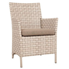 Wicker Möbel Garten Rattan Patio Arm Dining Chair