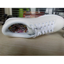 Latest design high quality cheap no brand wholesale white canvas shoes