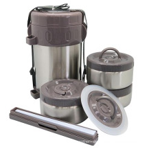 Stainless Steel Vacuum Food Jug with Chopsticks 2L