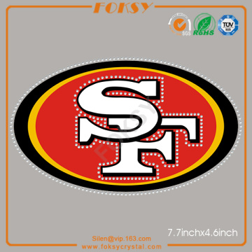 SF 49ers iron on crystal transfers