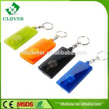 LED luzes da corrente chave PS material promoção dom plástico 1 conduziu lanterna keychain