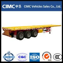 Cimc Heißer Verkauf 3 Achsen-Flachbett-Semi-Anhänger mit guter Qualität