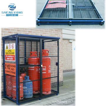 La jaula de gas de 1700 mm x 880 mm x 1735 mm dobla hacia arriba el almacenamiento de la botella del cilindro